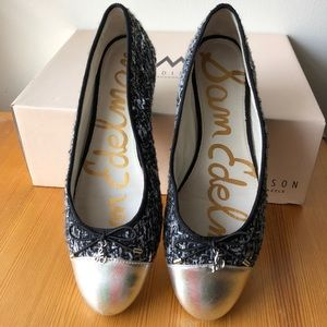 Sam Edelman Tweed Ballet Flats